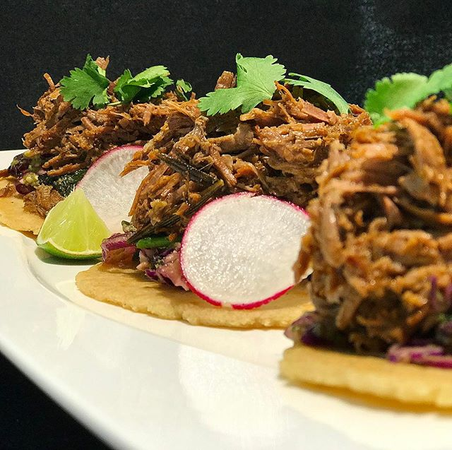 Braised lamb tacos: Feta-cabbage slaw, tomatillo salsa . Executive Chef Scott Phillips @chefesp75  #moreraleigh #jmrkitchens #saturdaynight #specials #features #eeeeeats #easter #lamb #taco #tacos @shoplocalraleigh @eater @eatraleigh @foodbeast @foodnetwork @trianglefoodadventures @nctriangledining @visitraleigh @raleighfoodpics @raleighrevealed @downtownraleigh @ncstate @visitnc