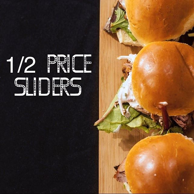 1/2 price sliders Monday - Saturday at @moreraleigh 4-6p. #dtr #happyhourraleigh #happyhour #raleighfoodpics #raleigh