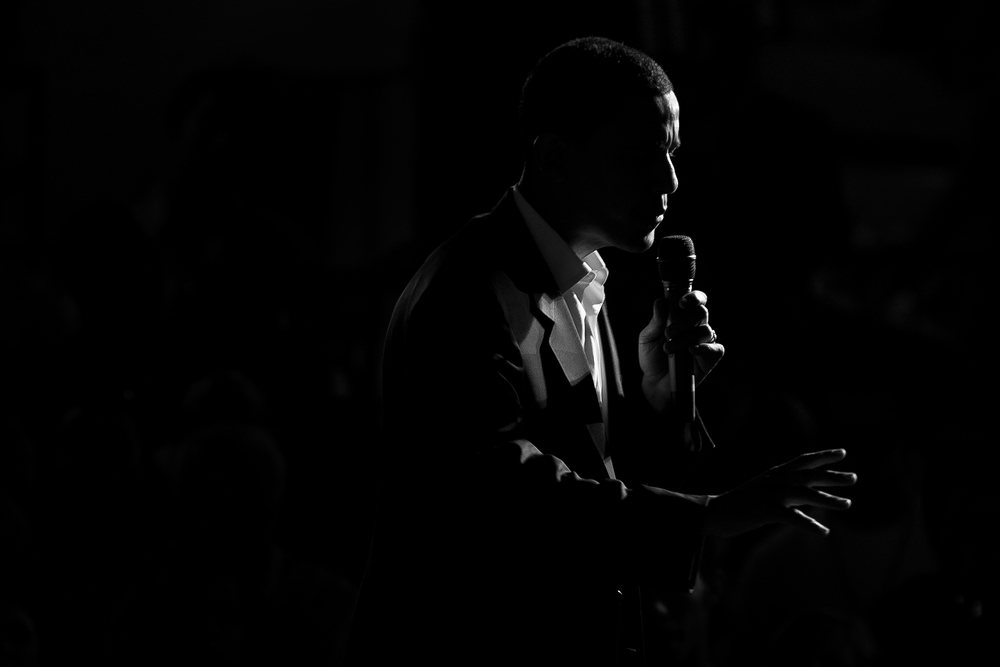 Barack Obama campaigns in Las Vegas in preparation for the 2007 Nevada Caucus.
