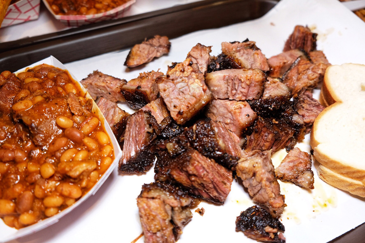 The burnt ends at John Brown Smokehouse in Long Island City, Queens are mouth watering.