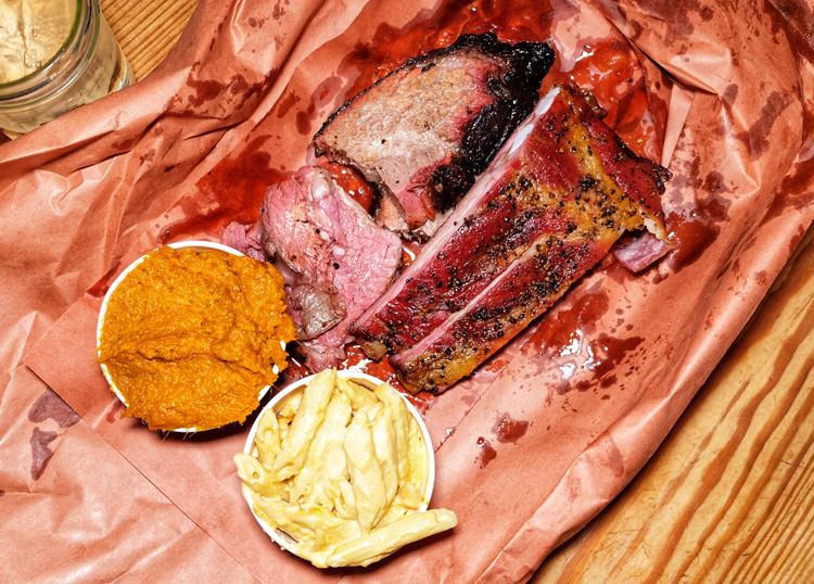 If you go to Hill Country for trivia (or just barbecue), be sure to try the tri-tip sirloin, pork ribs, sausage, and brisket.