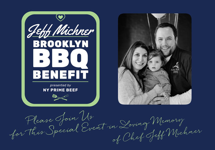 A benefit flier shows Jeff and his family before Jeff passed away in May 2018.
