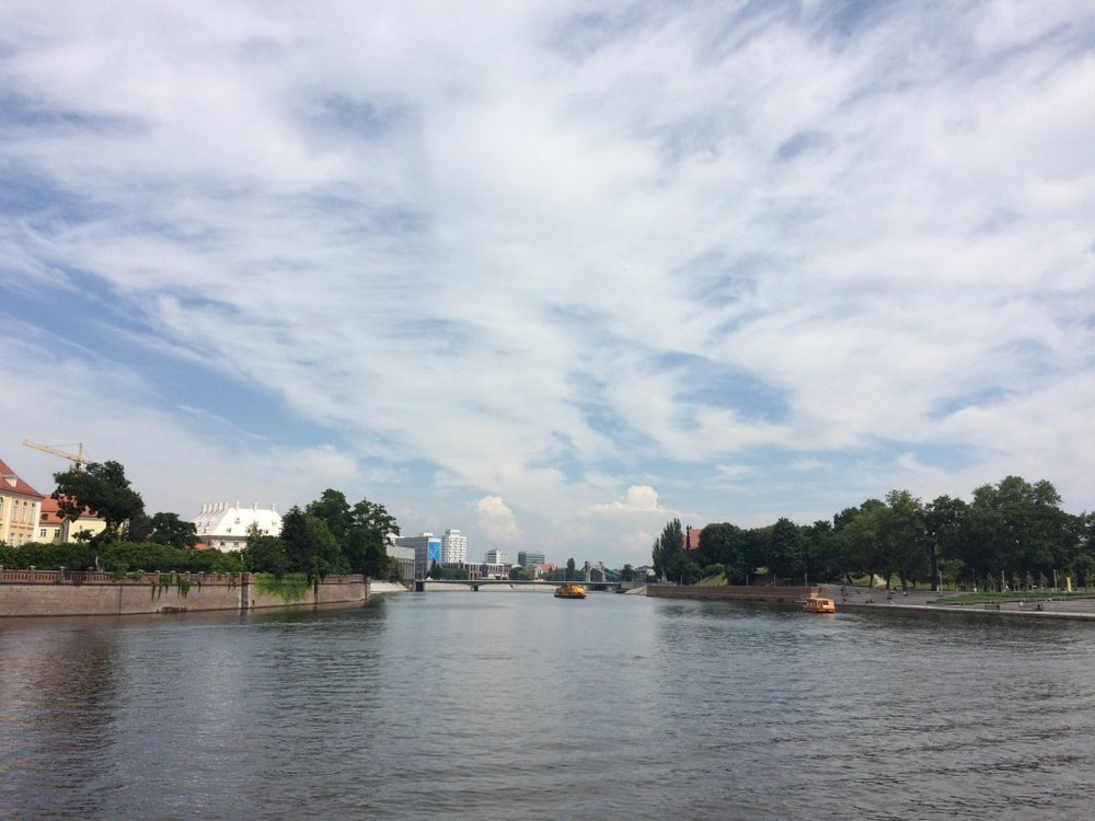 Wroclaw, Poland - view of the city from the Oder river