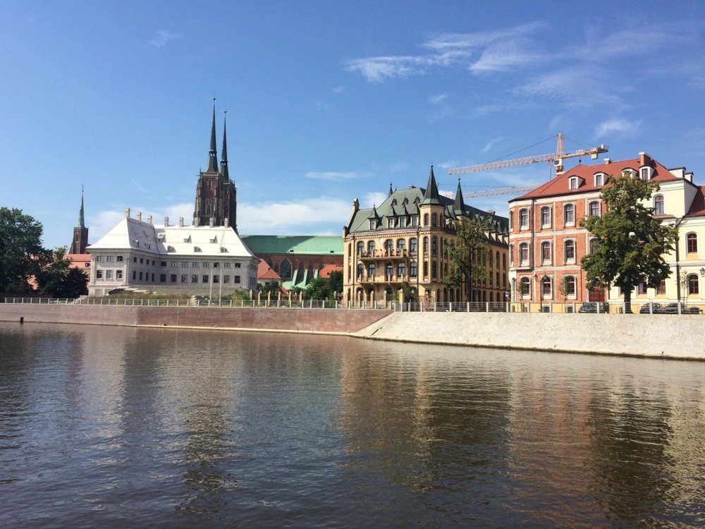 Wroclaw, Poland - Ostrow Tumski Island where Catholic Cathedral, Bishop Palace, Seminary and Convent are located