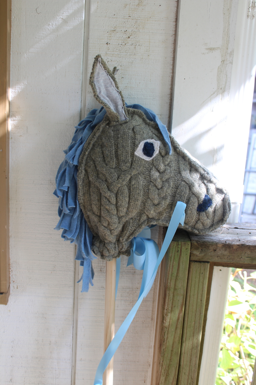 This grey horse went off to a home at this weekend's show and never made it to the shop.