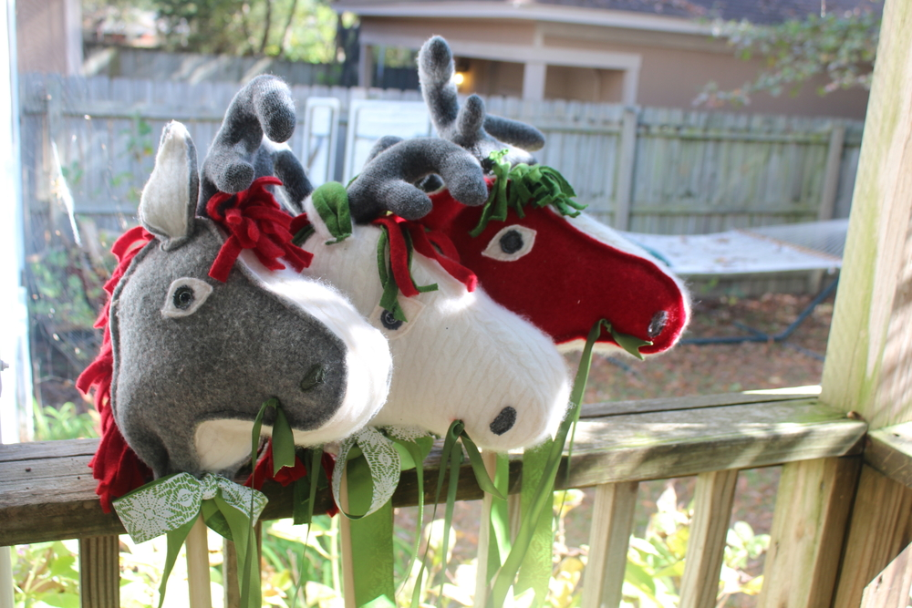 Reindeer Stick Horses