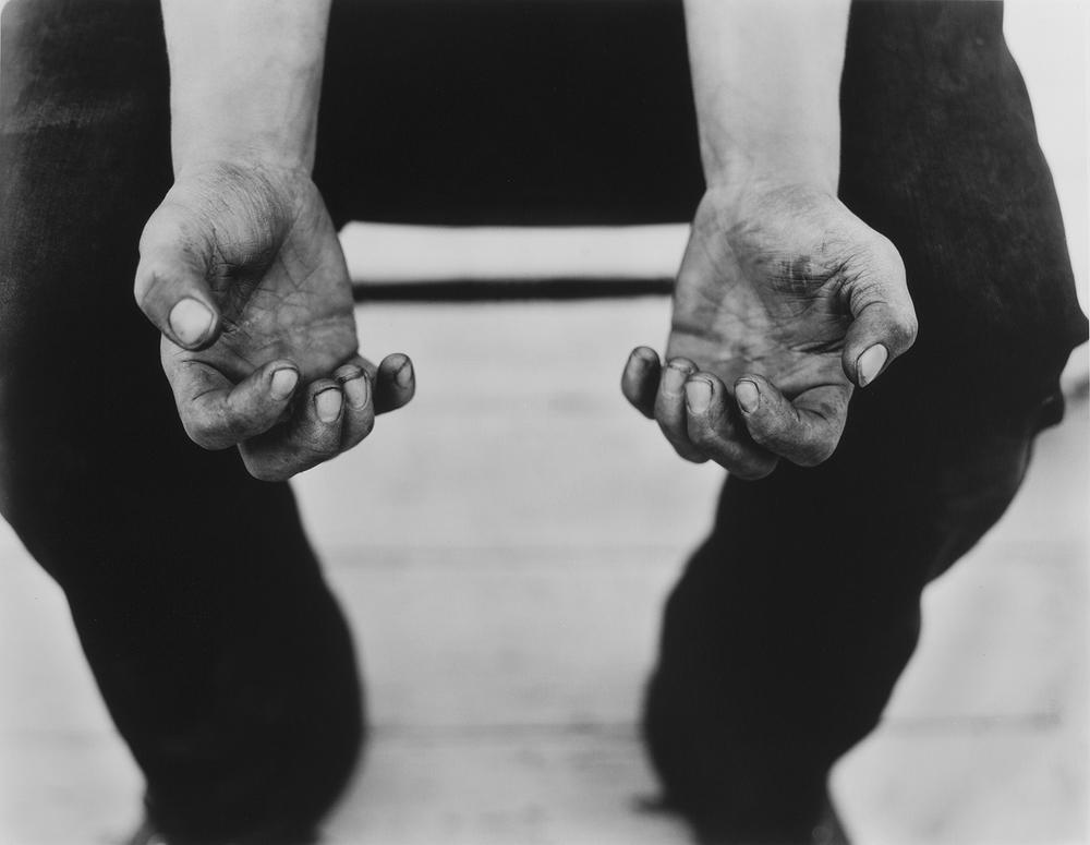 Darren Bilodeau, Bobby's Hands,  silver gelatin print, 14x11, 2015
