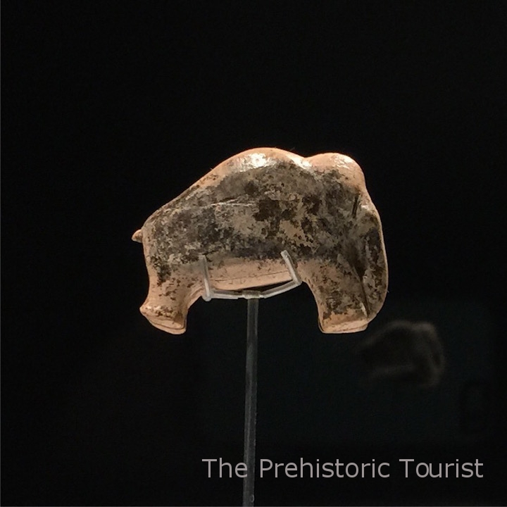 The Vogelherd mammoth (c.40,000 years old). It is finished on both sides, which is rare in carvings from this period.
