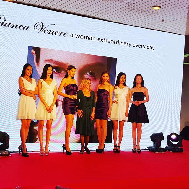 Biancavenerejewelry glamorous @ Beijing International Jewelry Fair #italianjewelry #fashionshow