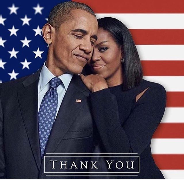 Thank you Barack and Michelle for 8 years of class, true leadership, inspiration and grace under fire from the small minded, unethical, fear-mongering hate-filled Right. You will go down in history as one of the greatest, most consequential presidents of our times.