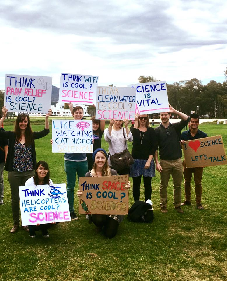 PhD students from the ANU tell us why science is important. (Photo: Robyn Shaw)