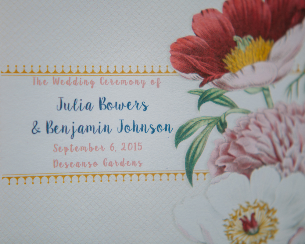 Descanso Gardens Wedding Invitation