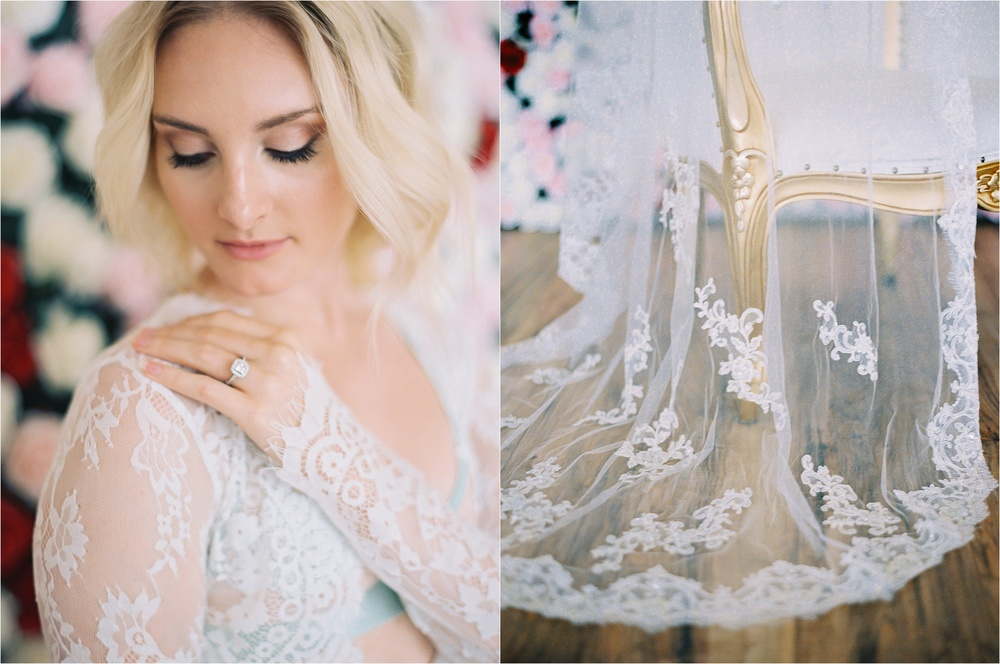 Los Angeles Bridal Boudoir Ring Detail Photo
