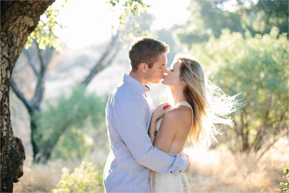Santa Clarita Magic Hour Engagement Photo
