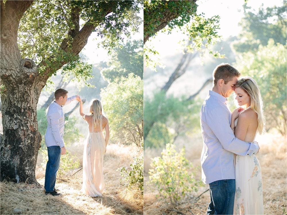 Santa Clarita Romantic Engagement Photo
