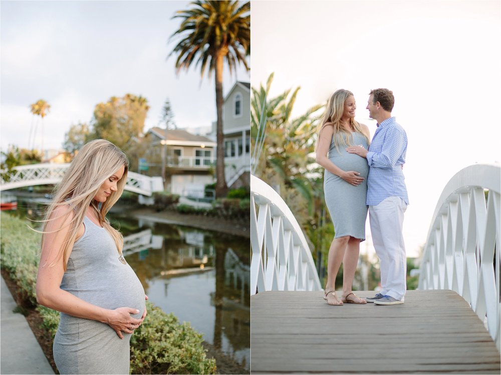 Venice Golden Hour Maternity Photo