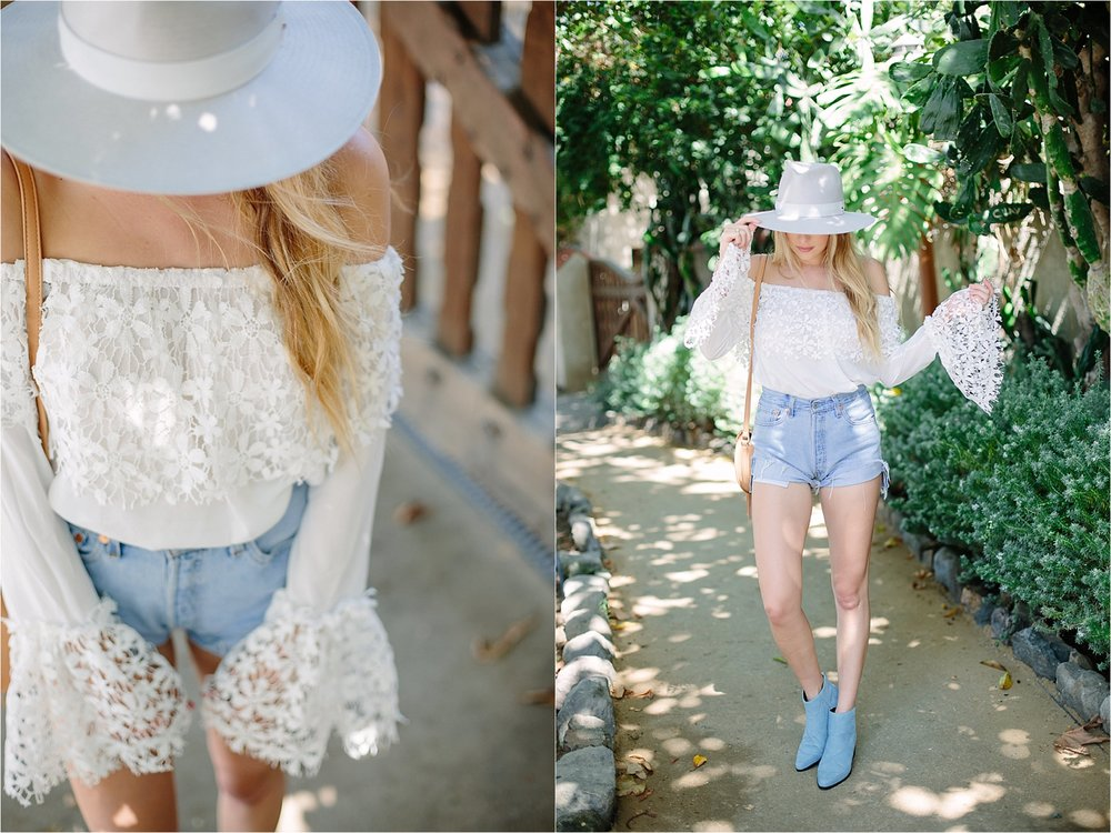 The Grove LA - Nasty Gal Lace Crop Detail Photo