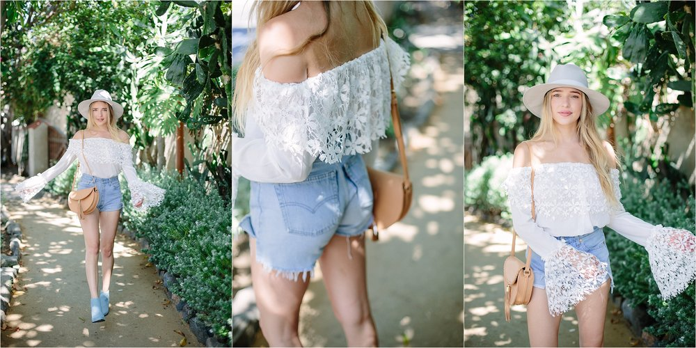 The Grove LA - Shop Redone Denim Shorts Detail Photo