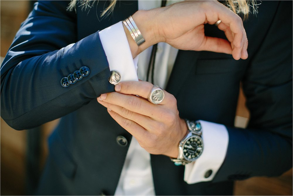 Custom Cufflink Detail Photo