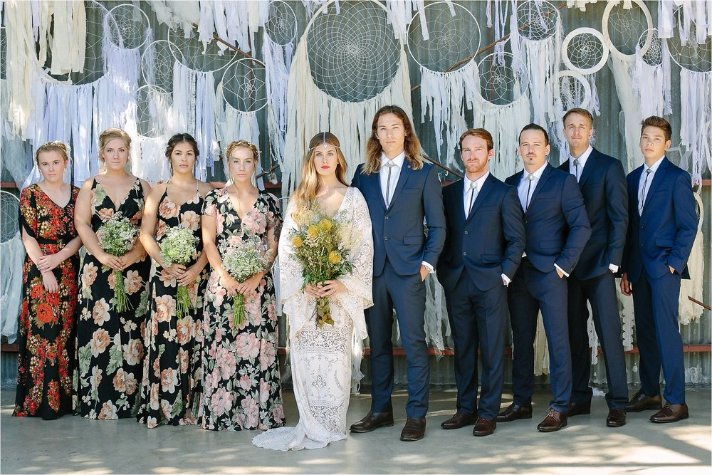 Boho Bridal Party Photo