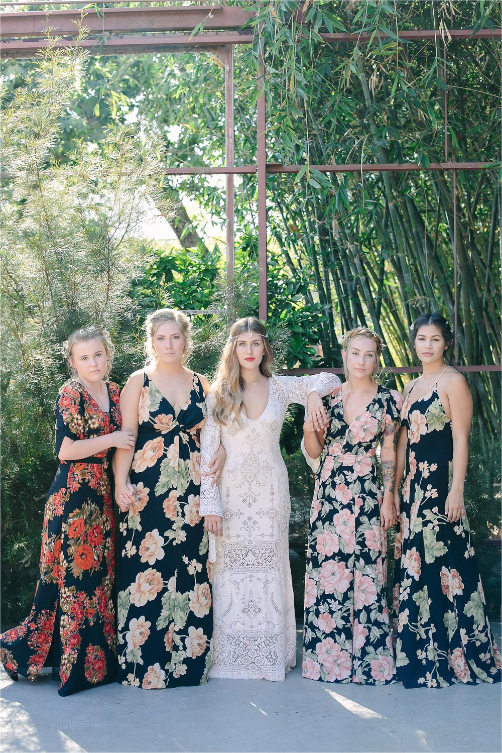 Gorgeous Bride & Bridesmaids in perfect golden light