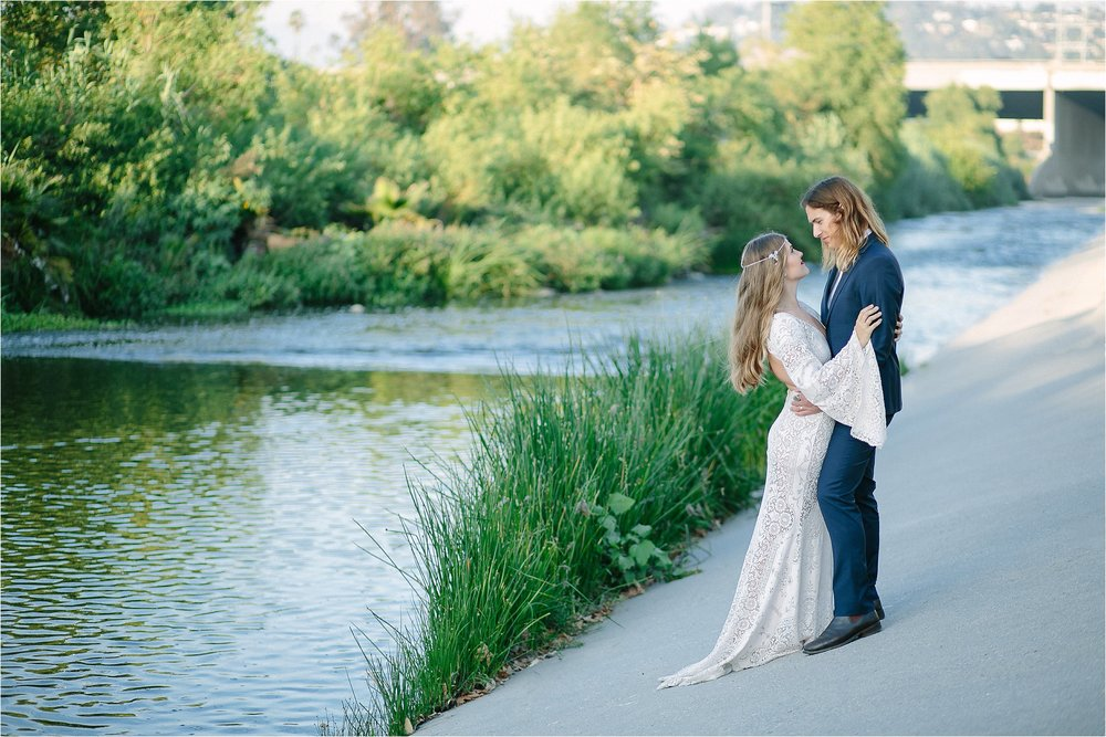 LA River Bridal Portrait