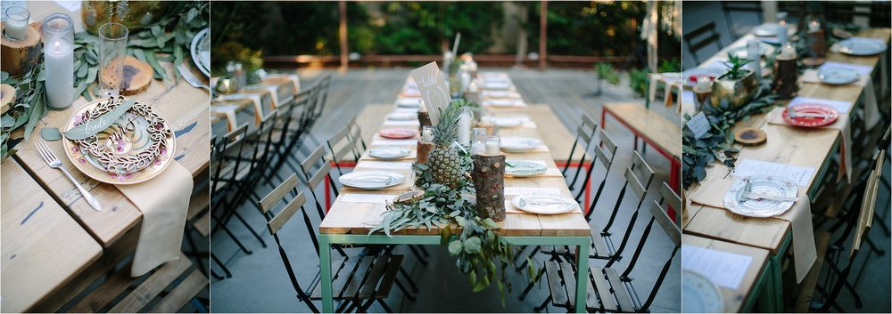 Los Angeles Boho Reception Photo