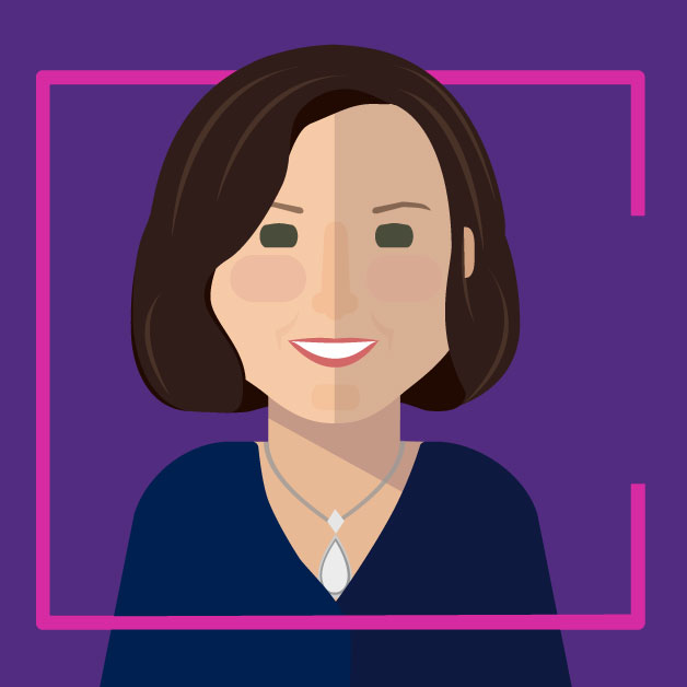 Illustration ofGavriella Schuster - Corporate Vice President, Commercial Partner Channels & Programs.Microsoft Partner Network.