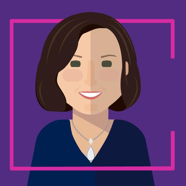 Illustration ofGavriella Schuster - Corporate Vice President, Commercial Partner Channels & Programs.Microsoft Partner Network.