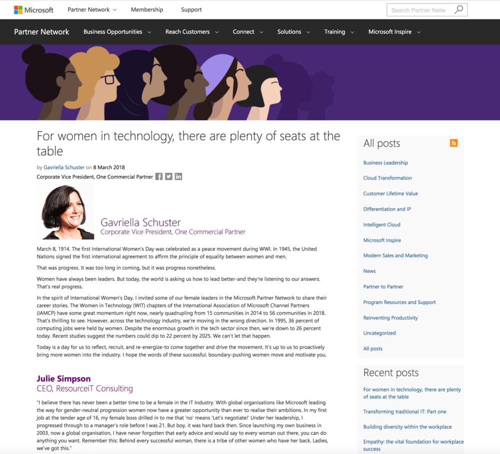 Microsoft Partner Network Blog by Gavriella Schuster.