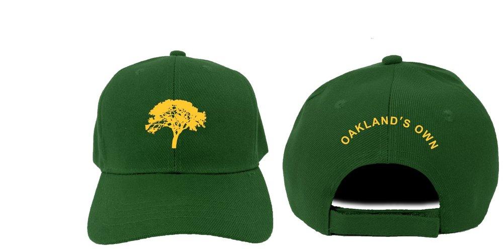 hunter green and yellow dad hat.JPG