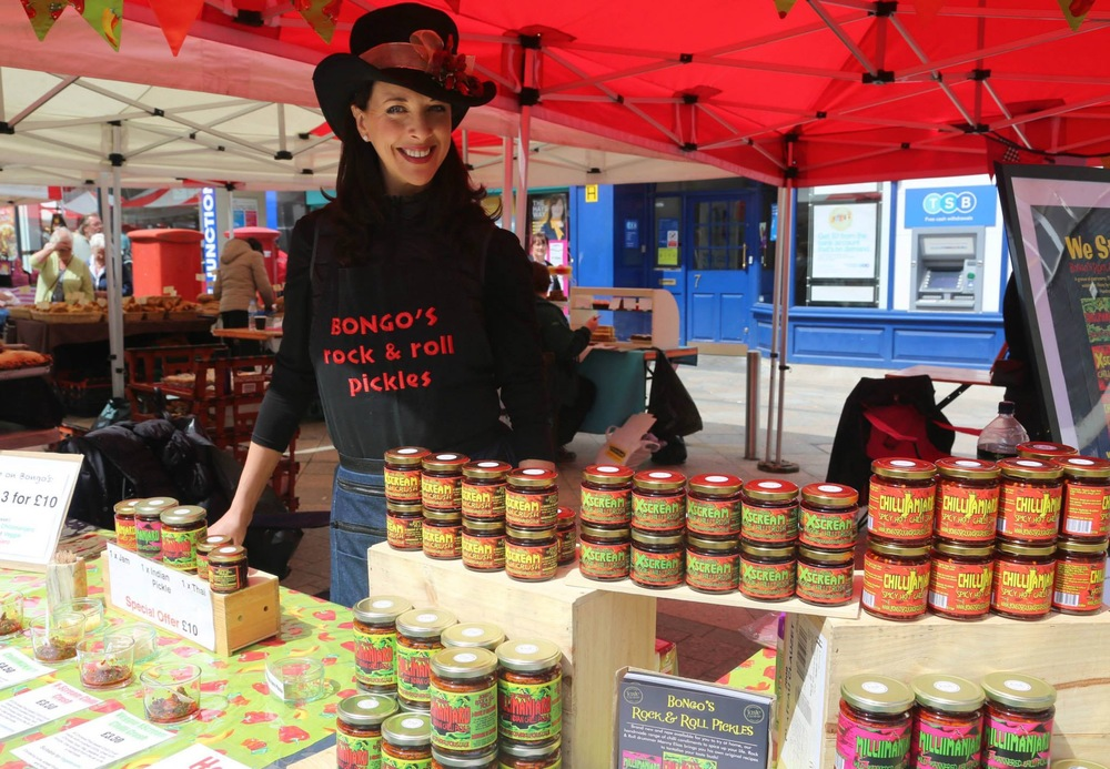 Debs in her famous chilli Hat - just look for the red gazebo!