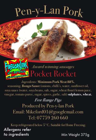 Pen-Y-Lan Pork Pocket Rocket with Firework Jerk
