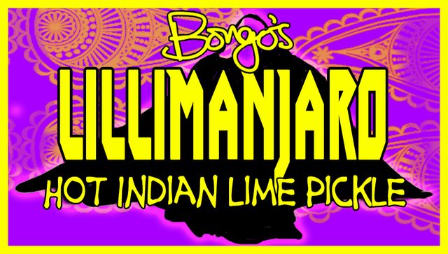Bongo's Lillimanjaro Hot Indian Lime Pickle