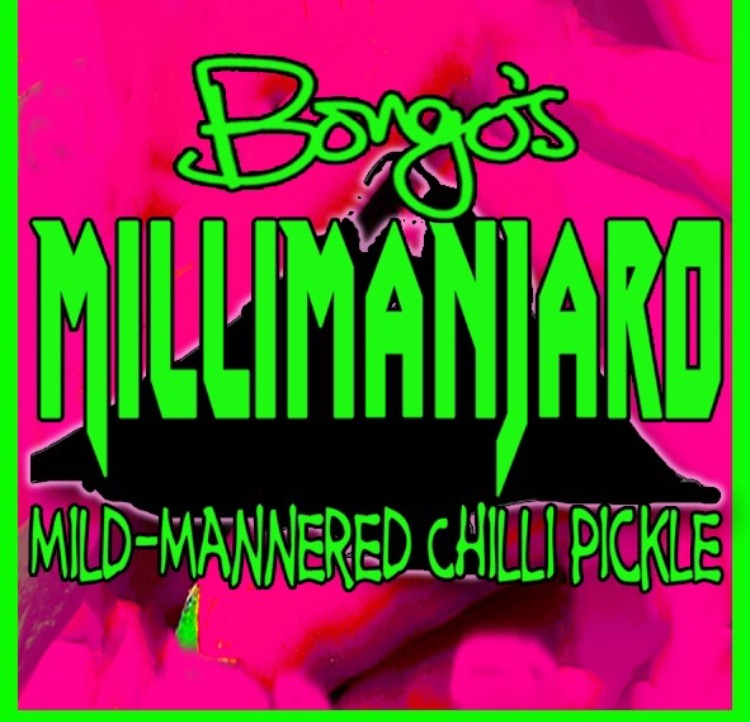 Bongo's Millimanjaro mild mannered Indian chilli pickle