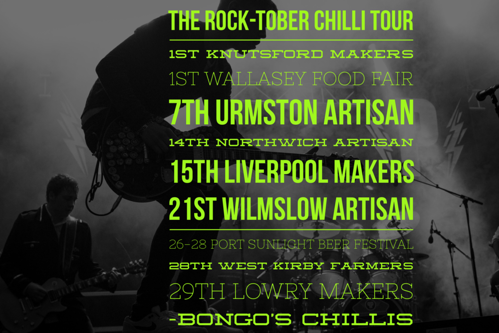 Bongo's ROCK-TOBER Chilli Tour 2017