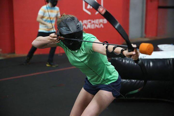 Archery Tag Toronto, Archery lessons, best archery tag cool pose.jpg