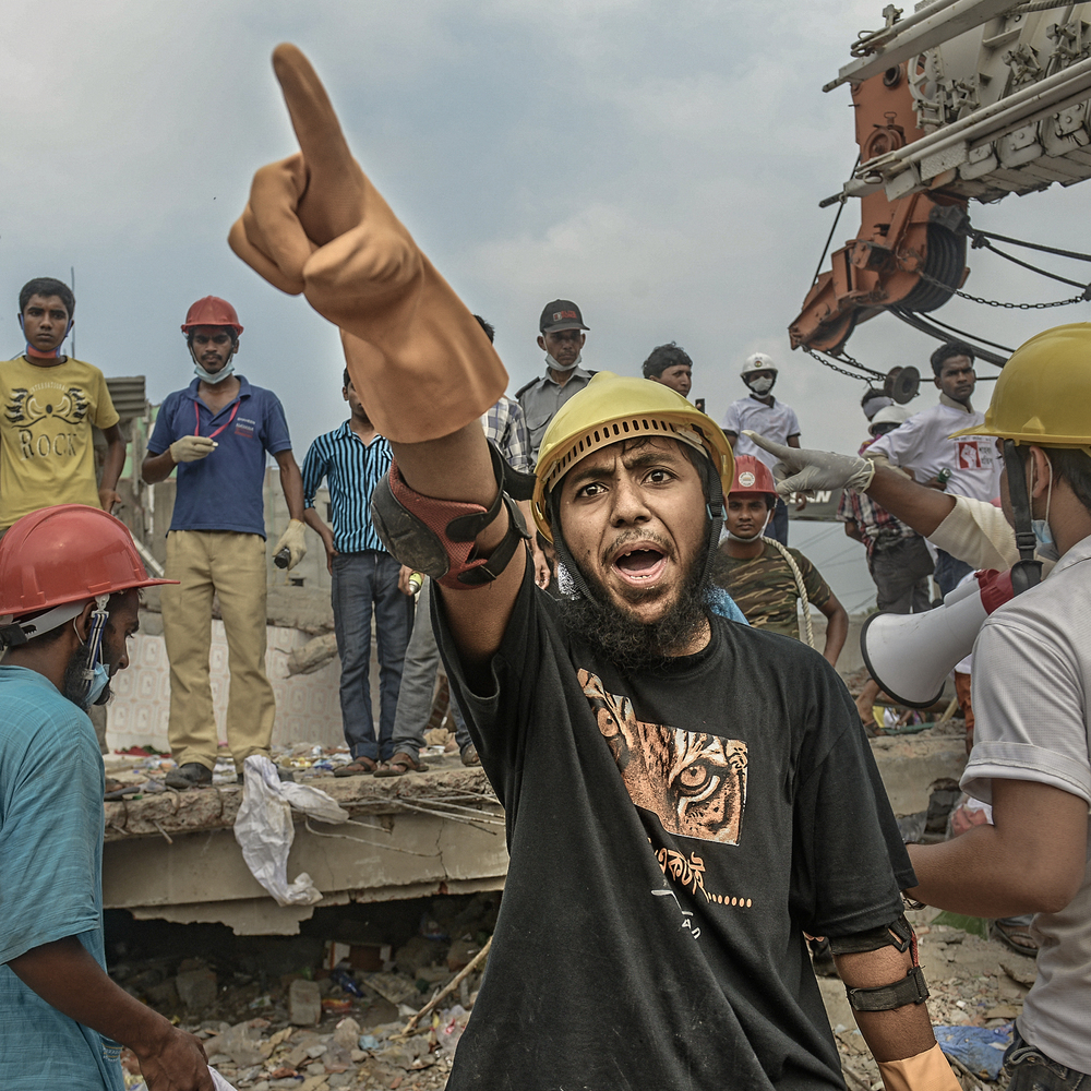 Mobarak Hossain was highly active as a volunteer during the Rana Plaza rescue mission in April 2013