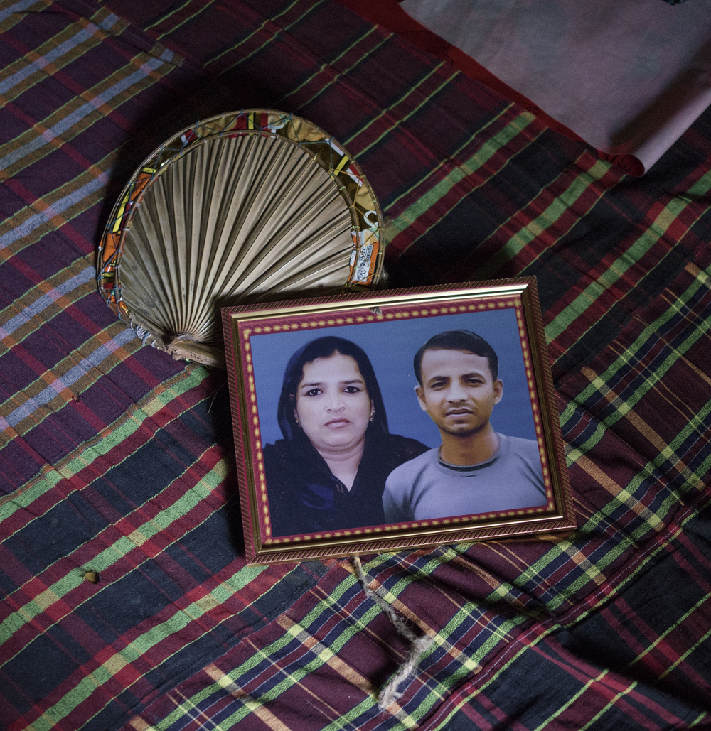 Nazma's picture with her son becomes only a memory as the disaster claimed her life.