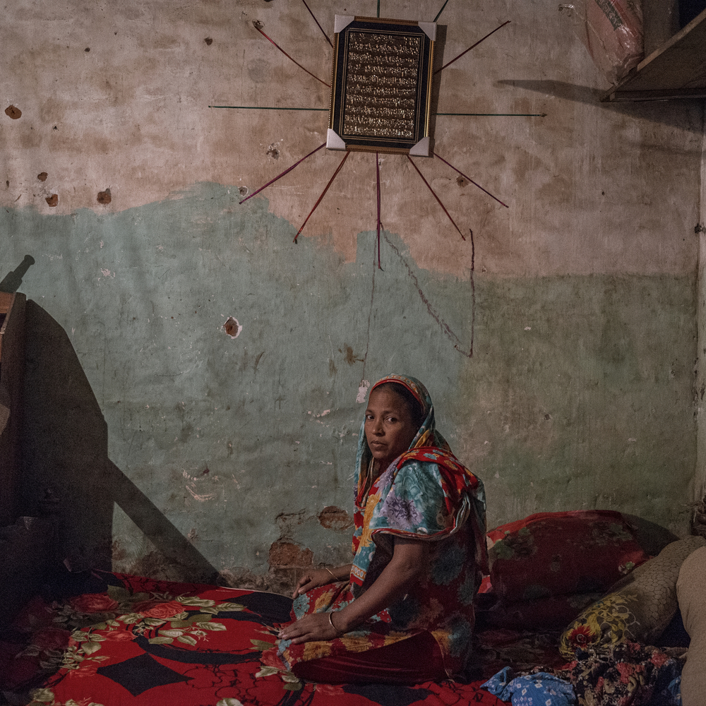 Rana plaza victim Amena begum cannot stand for while because of injury of her legs