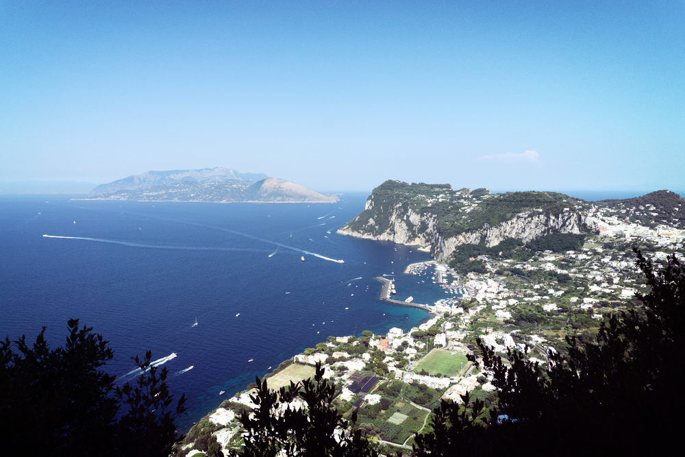 View of Capri from Villa San Michele