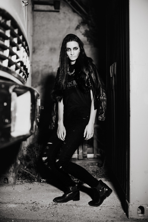 Grunge black white editorial shoot kurt paris photography