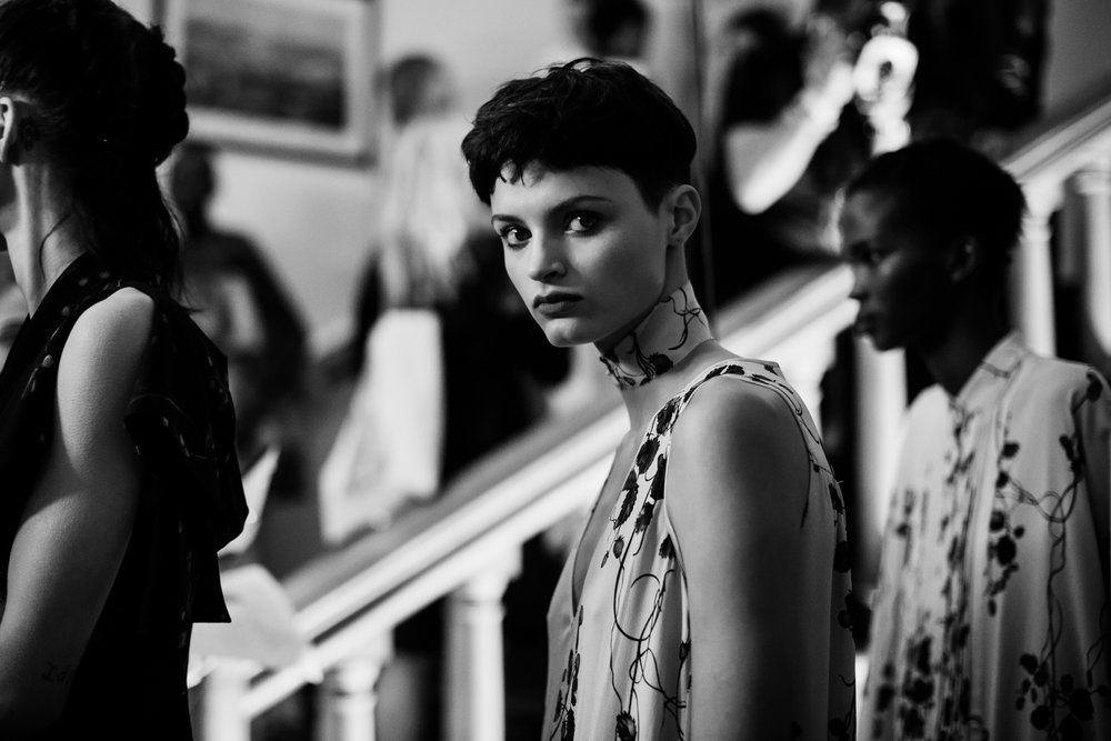 Giles Deacon Backstage - London Fashion Week