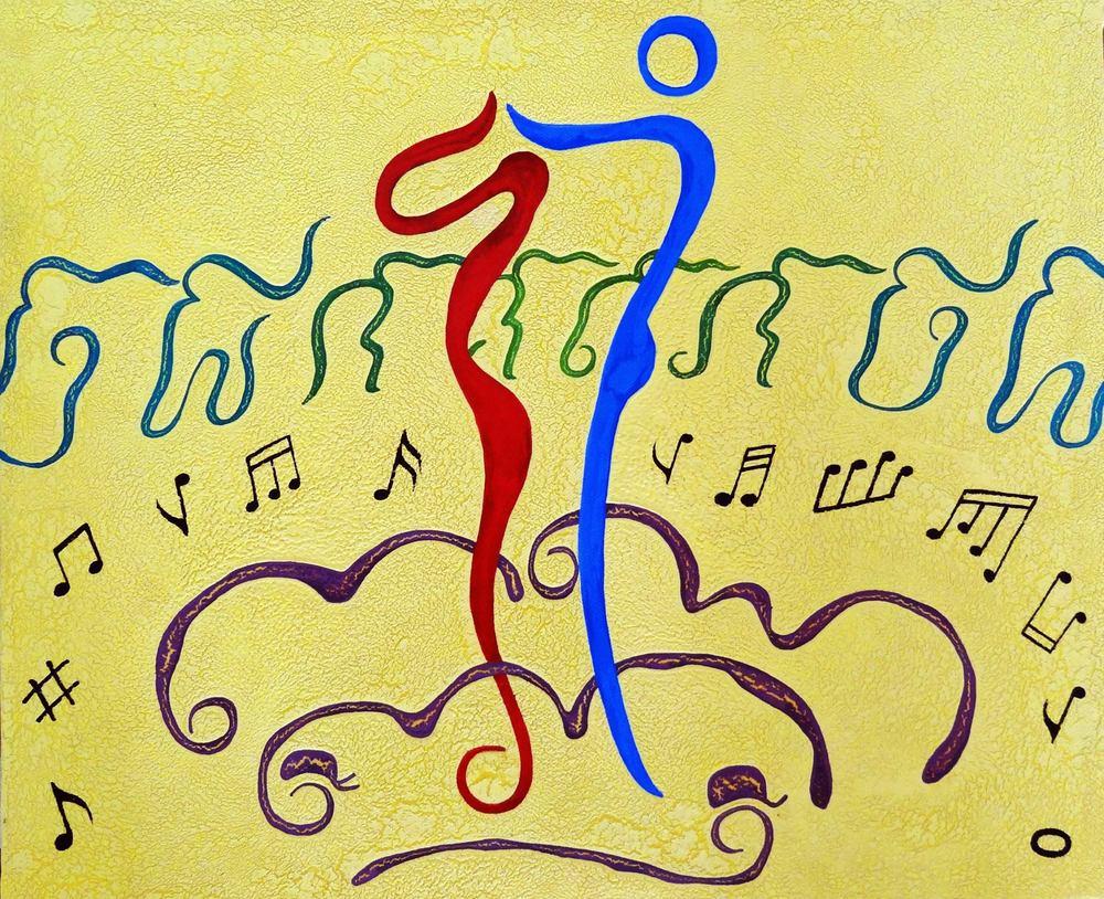 Letter dancing