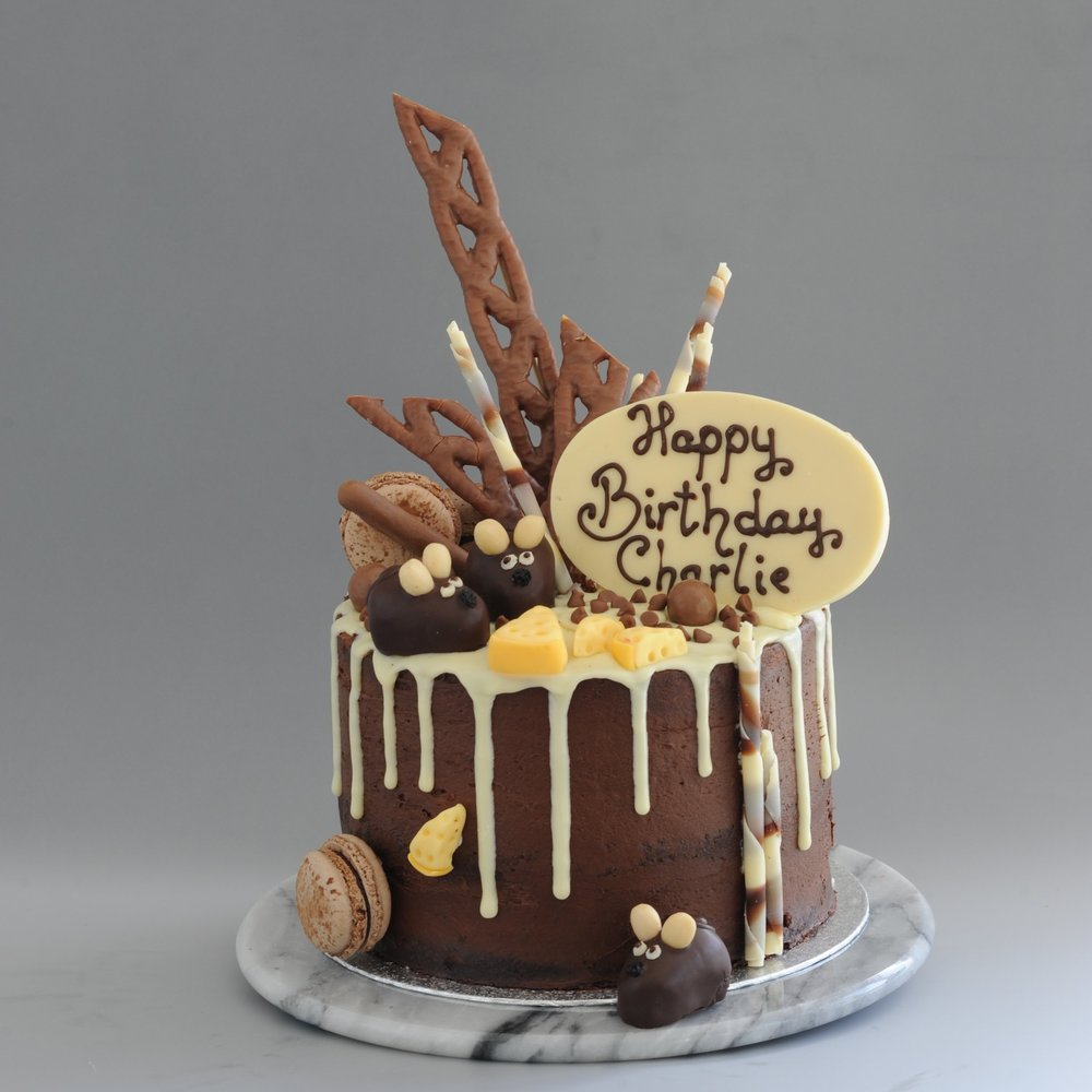 Chocolate Mouse Cake Alternate Layers Of And Vanilla Sponge Filled With Buttercream
