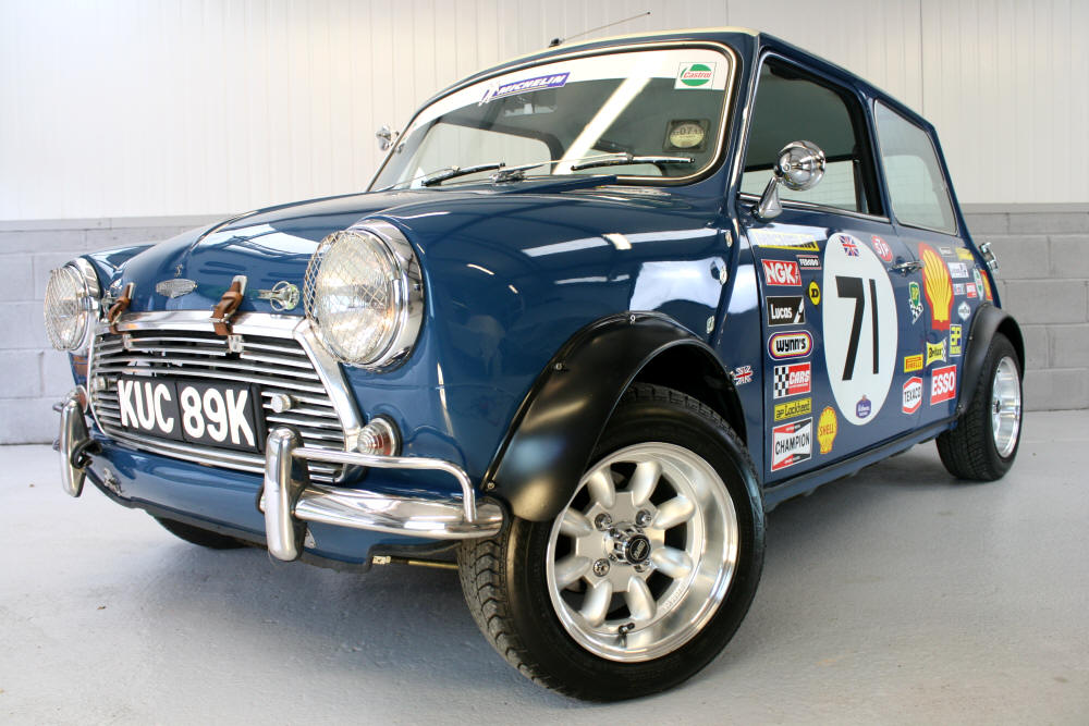 1971 Mini Cooper evocation Hi it's Greg from Nottingham - who bought the Mini.  its  now spot on and great fun.  - you have the love of cars and happy customers! Thanks won't be the last. Do you have any rally spec cars in the pipeline? Greg Towne 1st purchase