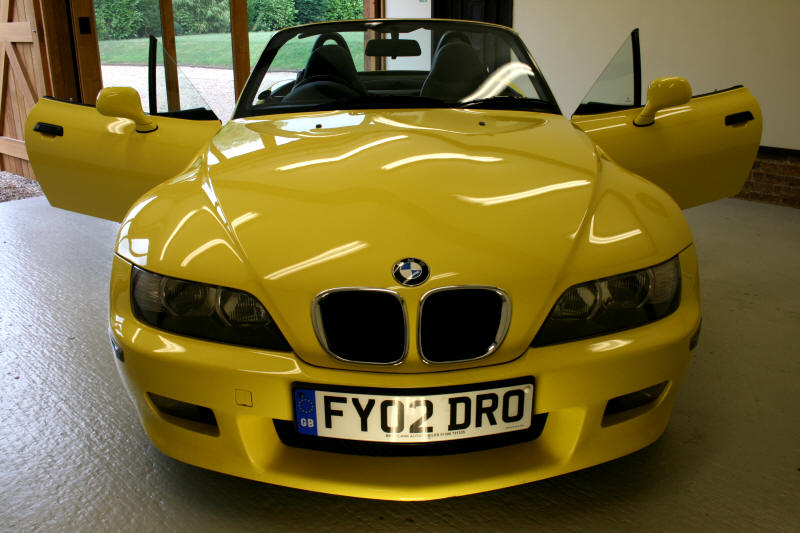 2002 BMW Z3 SPORT       We are absolutely delighted with the BMW Z3 which we  bought from you last week.      From the moment we arrived, there was no high pressure sales technique and you gave us time      on our own to look at the car and make a hassle free decision.      The service you gave us was second to none and we will have no hesitation  in recommending       you to our family and friends when they want to change their cars.       It was real pleasure doing business with you and we wish you all the best for the future.       Many thanks Ron & Gail.
