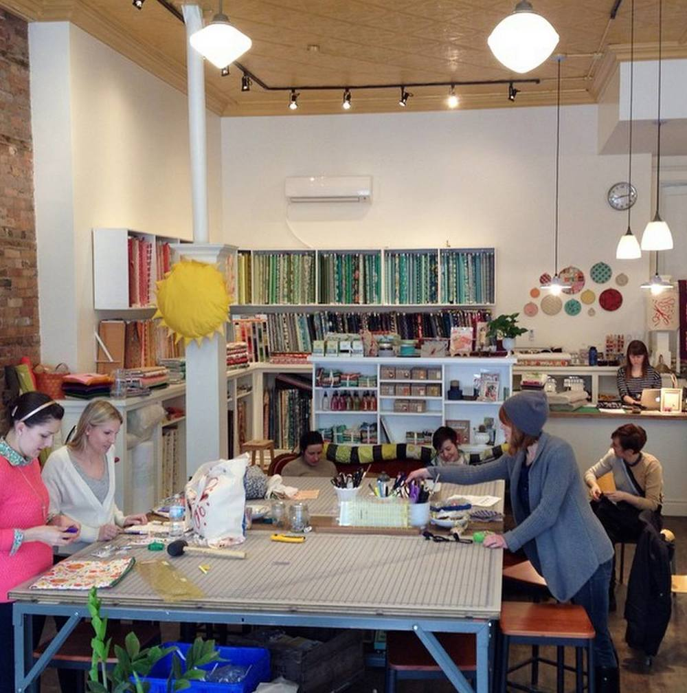 The Needlework space.