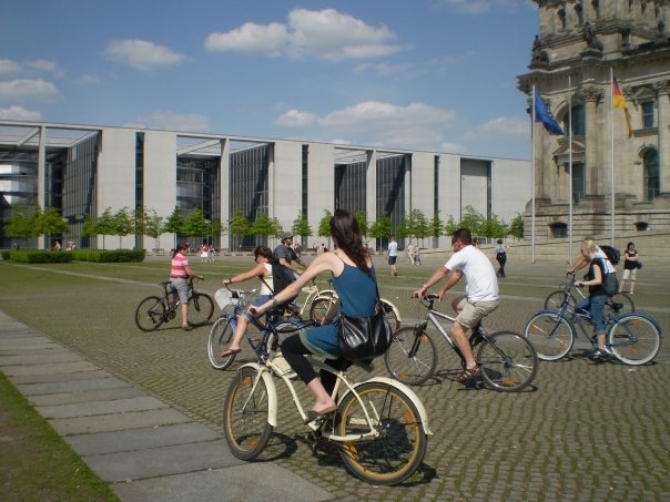 Me on a bike tour of Berlin in 2008.