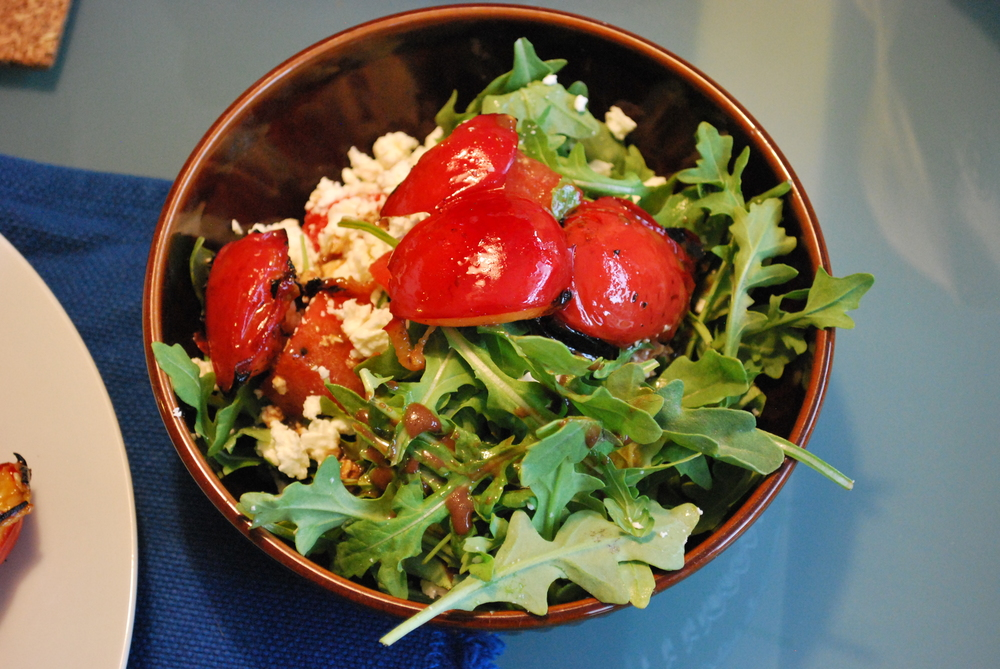 This is arugula, watermelon, feta and balsamic. And it was really, really great.